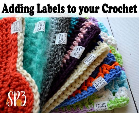 Tutorial on how to add labels to your crochet items. Get that professional look, it's quick and easy! #DIY