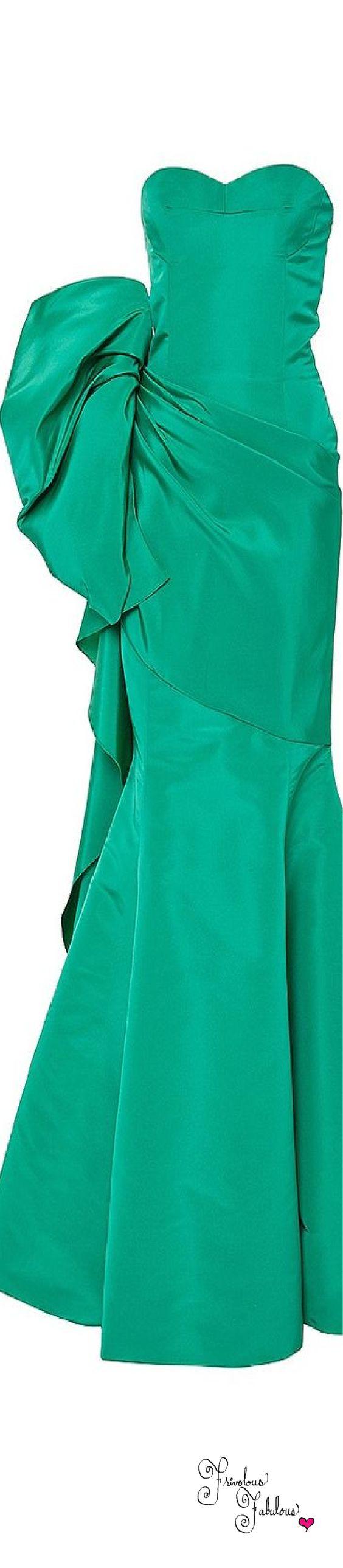 Frivolous Fabulous - Oscar De La Renta Emerald Green Slk Gown Pre Fall 2015
