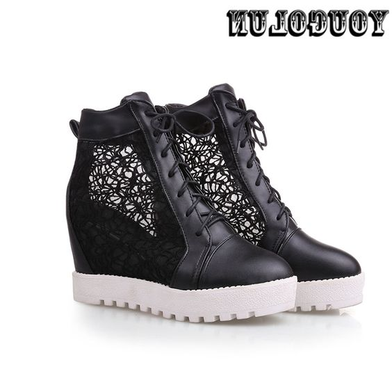 37.96$  Buy now - https://alitems.com/g/1e8d114494b01f4c715516525dc3e8/?i=5&ulp=https%3A%2F%2Fwww.aliexpress.com%2Fitem%2FWomen-fashion-height-increasing-new-summer-ankle-boots-2016-black-white-Cut-Outs-flat-casual-flats%2F32629762866.html - Women fashion height increasing new summer ankle boots 2016 black white Cut Outs flat casual flats woman shoes ladies sandals 37.96$