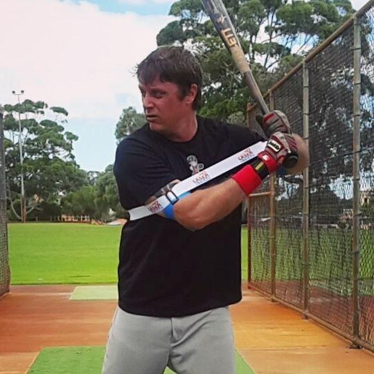 Laserpowerswingtrainer Hitlasers Com Baseballswing Baseballpower Trainer For Mlb Minorleague Collegeba Swing Trainer Baseball Workouts Baseball Hitting