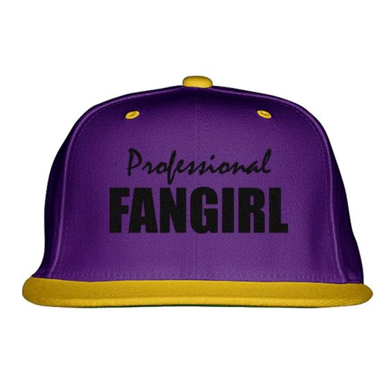 Professional Fangirl Embroidered Snapback Hat