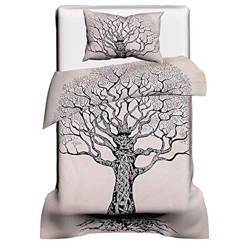 Charoil Enterprises Duvet Cover Tree Of Life Set Pillow Shams Single Sizes Print Bedding Quilt Indian Handmade Duvet Covers Duvet Covers Duvet Covers Bohemian