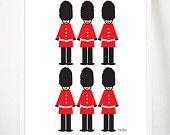 "London Guard Toy Soilder Print 8x10"" Babies Room Childs Bedroom Wall Art Decor United Kingdom British UK"