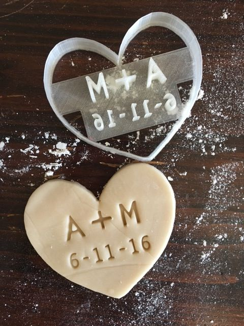 Image of Wedding INITIALS Cookie Stamp