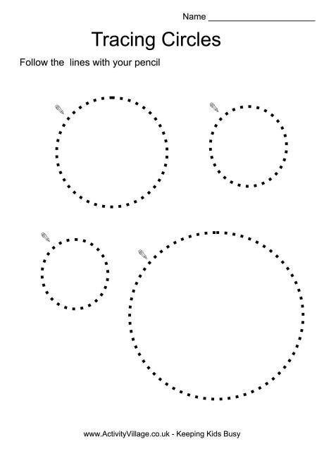 tracing circles projects to try pinterest circles worksheets and google. Black Bedroom Furniture Sets. Home Design Ideas