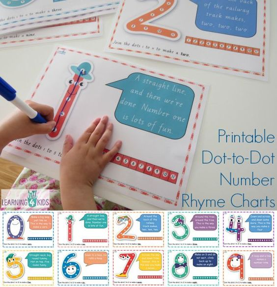 Charts, Printable numbers and Shape on Pinterest