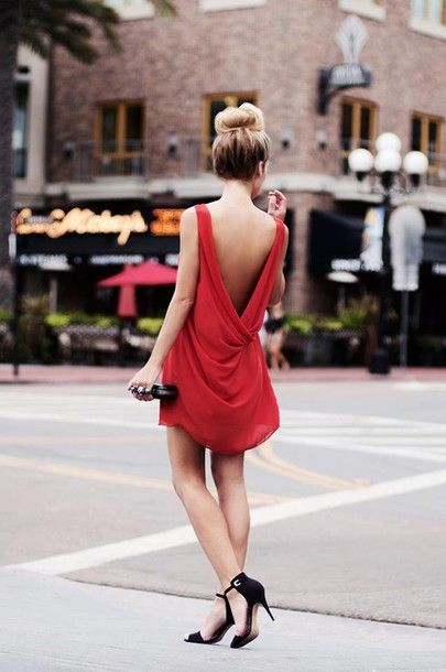 dress icifashion ici fashion open back open back dresses red dress