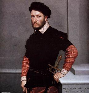 Giovanni Battista Moroni Paintings:  Ritratto di Don Gabriel de la Cueva, poi duca di Alburquerque ...