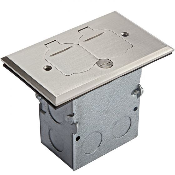 Floor Box Electrical Outlet For Counters And Floors Enerlites 705507 S Floor Box W 20a Tamper Weather Resistant Duplex Floor Boxes Flooring Weather Resistant