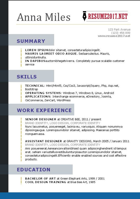 What Your #Resume Should Look Like in 2017 Resume Success - purpose of a resume