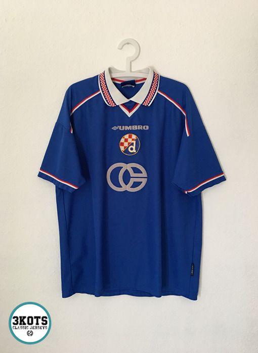 Bisan Dinamo Zagreb 1999 00 Home Football Shirt 2xl Umbro Vintage Soccer Jersey Umbro Dinamozagreb Vintage Football Shirts Soccer Shirts Football Shirts