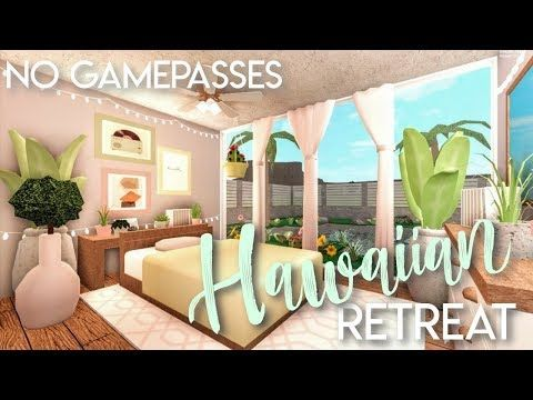 Bloxburg Hawaiian Retreat No Gamepasses House Build Youtube Building A House Cute House Home Building Design