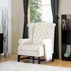 Sussex Beige Linen Club Chair (Set of 2) $800