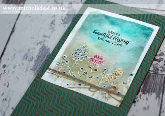 Video Tutorial * Flowering Fields free from Stampin Up during Saleabration 2016: