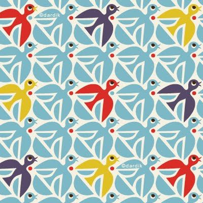 Helen Dardik: Dardik Birds, Birds Helen, Bird Patterns, Prints Patterns, Dardik Orangeyoulucky, Bird Prints, Birds Pattern, Lucky Patterns