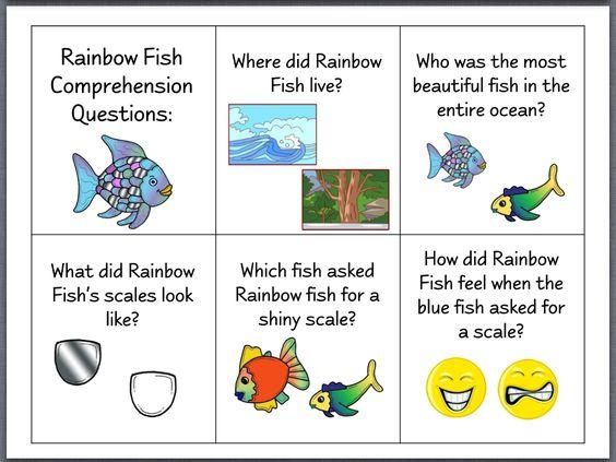 Let 39 s talk the rainbow fish speech stuff pinterest for Rainbow fish lesson plans