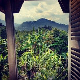 View onto Bokor Mountain range from a friend's house here.