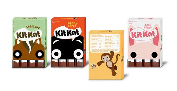 adorable take on candy packaging, light and ethereal - Kit Kat candy #packaging design by Jacqueline Chou, via Behance