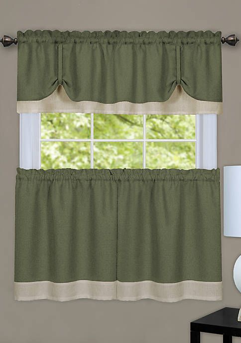 Tuscan Olives Window Tiers Valance Green Tans Interiors By Design Polyester Tuscan Curtains Kitchen Window Coverings Tuscan Kitchen