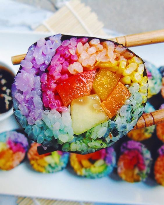 Rainbow Sushi Is For Unicorns and Mermaids Only: