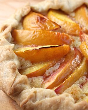 Peach Frangipane Galette Recipe — Dishmaps