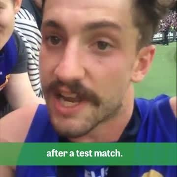 The background to the interesting post-match interview with Aussie Rules footballer Tom Liberatore HERE: http://cricketa.us/2dFktpJ
