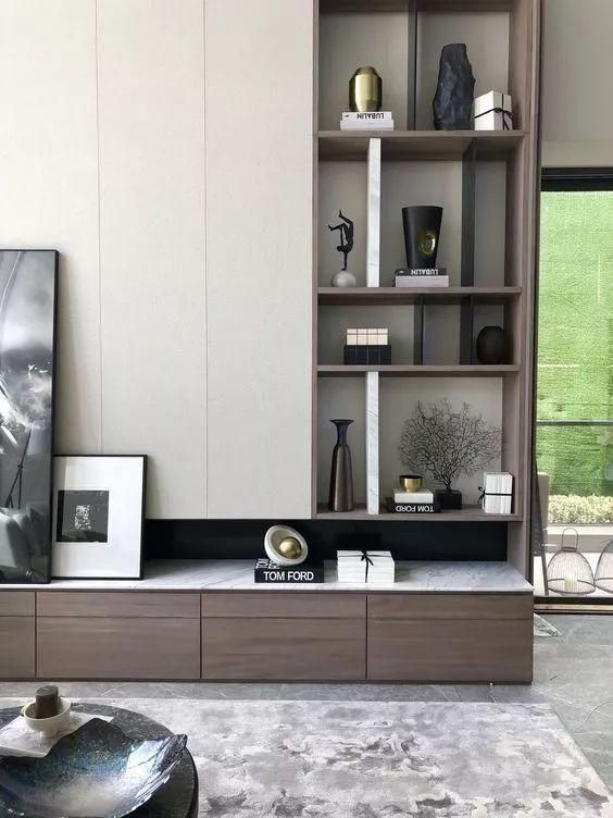 40 Inspiring Display Shelf Ideas To Spruce Up The Walls Page 41 Of 45 Lovein Home Living Room Tv Wall Living Room Storage Interior