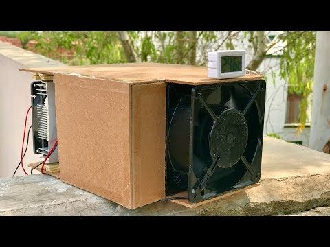 4 How To Make A Portable Thermoelectric Air Conditioner At Home Youtube Air Conditioner Electronics Projects Diy Conditioner