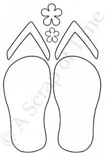 Free Flip Flop Pattern | Anaokulu | Pinterest | Cabañas en ...