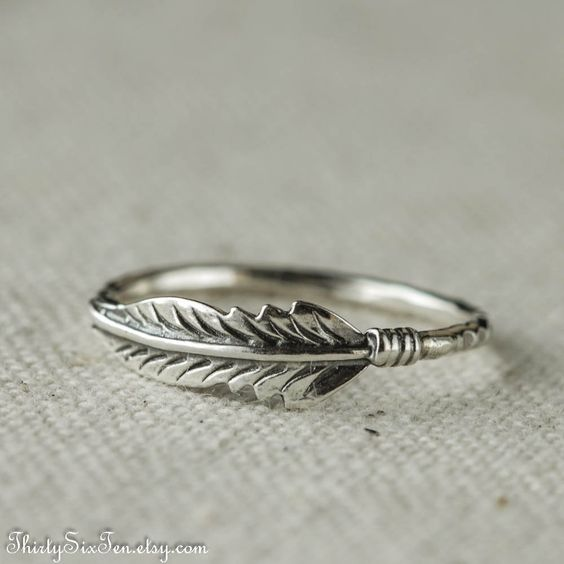 Feather Ring Sterling Silver: