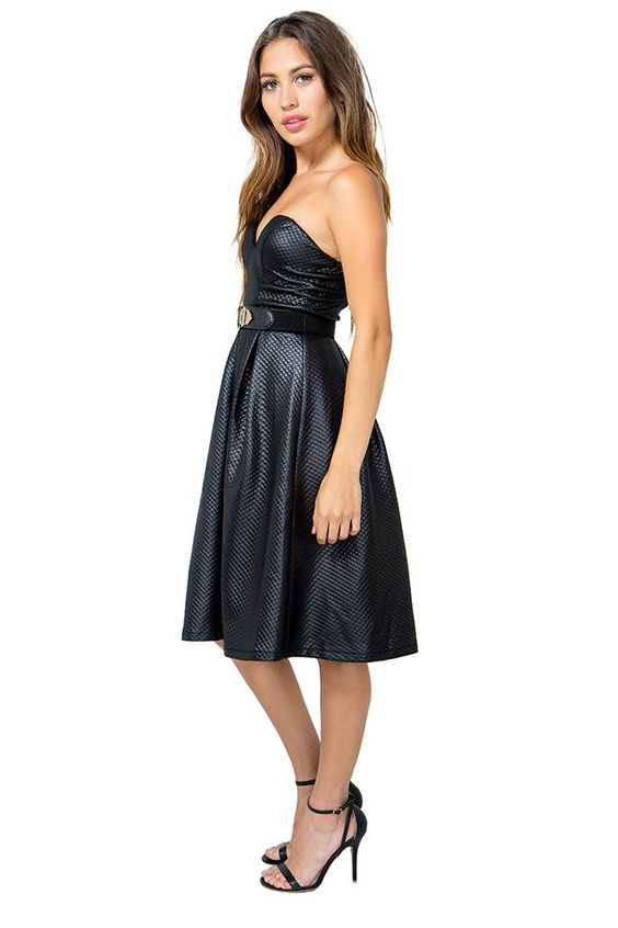 Quilted Sweetheart Midi Dress