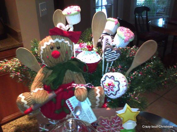 Crazy bout Christmas - I made this last year to go with my countertop candy theme.