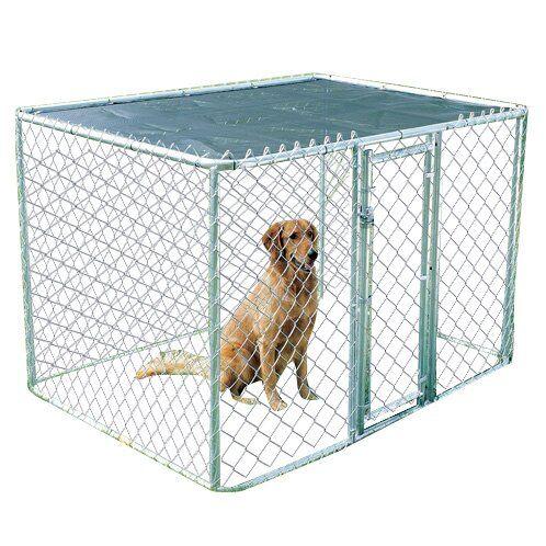 Derek Steel Chain Link Portable Yard Kennel In 2021 Portable Dog Kennels Wooden Dog Kennels Dog Run Side Yard