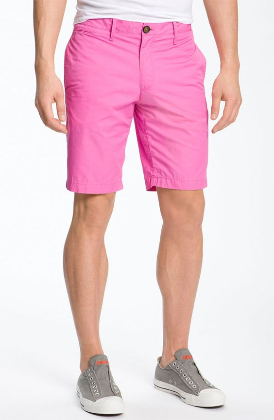 AH MEN! You can't go wrong wearing pink shorts! Wear this with a ...