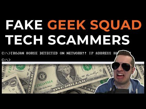 Fake Geek Squad Tech Support Scammers Exposed Full Call Youtube Geek Squad Scammers Geek Stuff