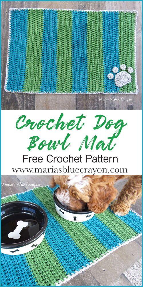 Crochet Dog Bowl Mat Free Pattern And Knit Picks Dishie Yarn Review Knitting Patterns Free Dog Crochet Dog Free Crochet