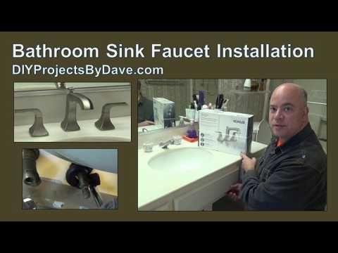 Diy Kohler Bathroom Sink Widespread Faucet Installation Kohler Bathroom Sink Kohler Bathroom Diy Bathroom