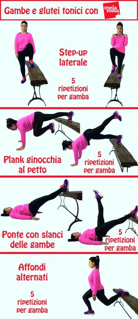 Popolare il circuito per tonificare gambe e glutei | Fitness | Pinterest  OS97
