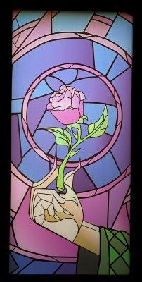 Enchanted Rose Stained Glass From Beauty And The Beast