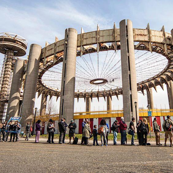 Architect Philip Johnson designed the New York State Pavilion for the 1964-65 World's Fair