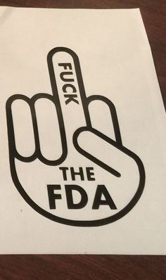 Fuck the FDA v2 - vaping vinyl decal - vape sticker by Octovape on Etsy <a…