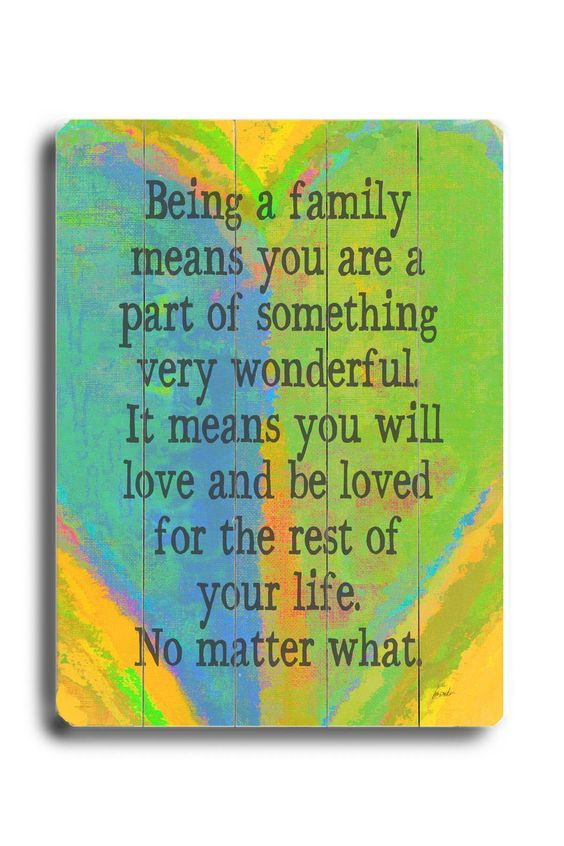 Discuss what a family and home represent to you?