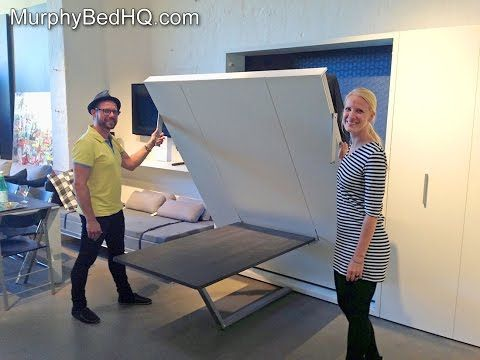 ▶ DIY wall bed for under $150 (bed is around $75, shelves make up the rest) - YouTube