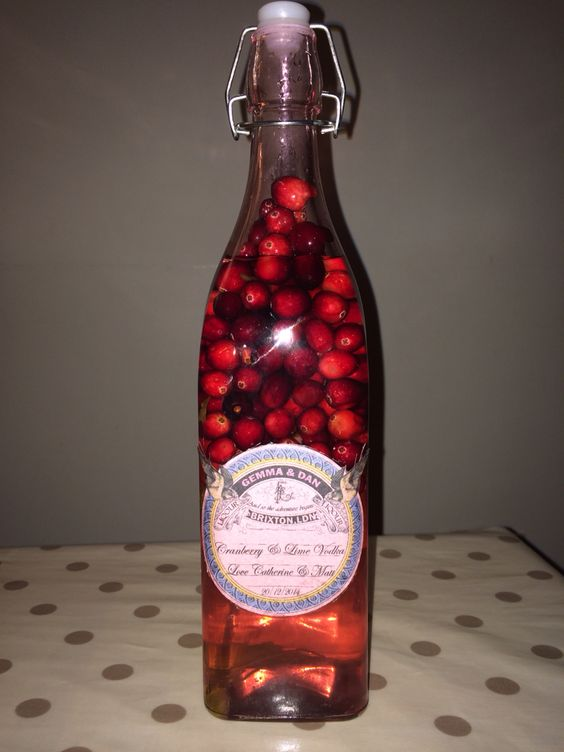Cranberry lime Vodka. Wedding gift