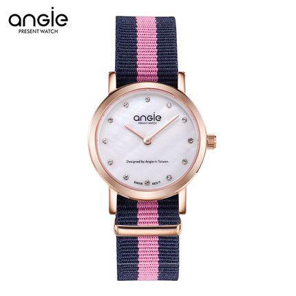 Luxury fashion brand Angie women's watch quartz lovers watch waterproof ultra-thin 6mm female canvas watch