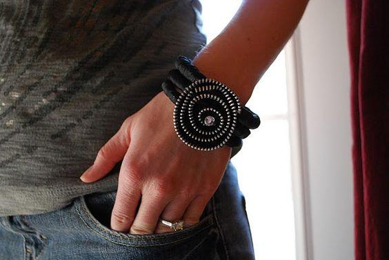Zipperflower bracelet DIY,#diy,#bracelet,#zipperflower