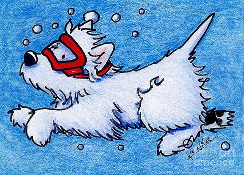 Westie Diver by Kim Niles