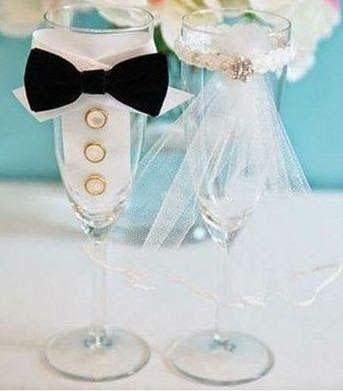 Paso a paso c mo decorar una copa de boda copas de boda - Manualidades para una boda ...