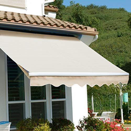 New Xtremepowerus Patio Manual Retractable Sun Shade Awning Tan 8 X 6 Furniture 139 95 Tophitsfurniture Pergola Shade Diy Pergola Shade Patio Awning