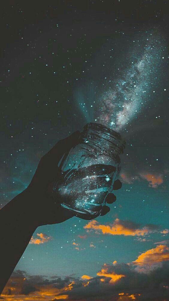 Milky Way In A Jar Galaxy Wallpaper Colorful Wallpaper